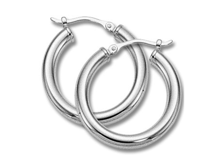 Sterling Silver Small Hoop Earring by Carla Corporation