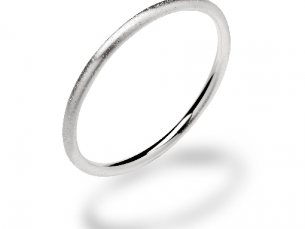 Sterling Silver Diamond Dust Bangle by Bastian Inverun