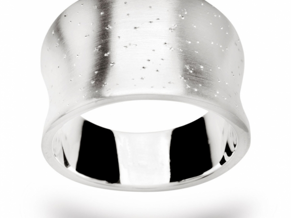 Sterling Silver Diamond Dust Fashion Ring by Bastian Inverun
