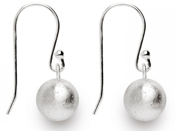 Sterling Silver Ball Hanging Earring by Bastian Inverun
