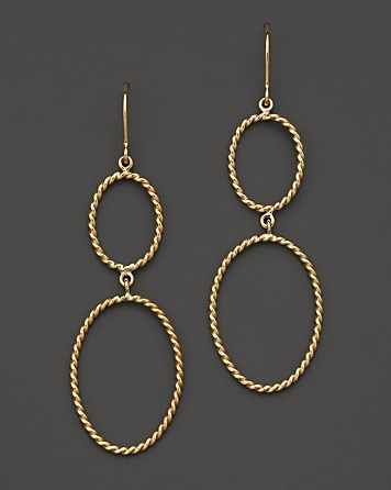 14k Yellow Gold Double Rope Earring by Carla Corporation