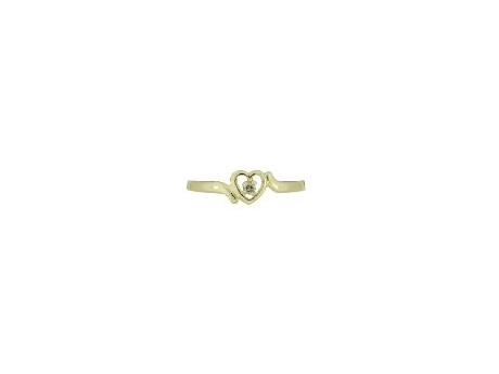 10k Yellow Gold Baby Ring with Diamond by Kiddie Kraft